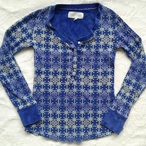 Victorias Secret Shirt Pajama Thermal Top Waffle S